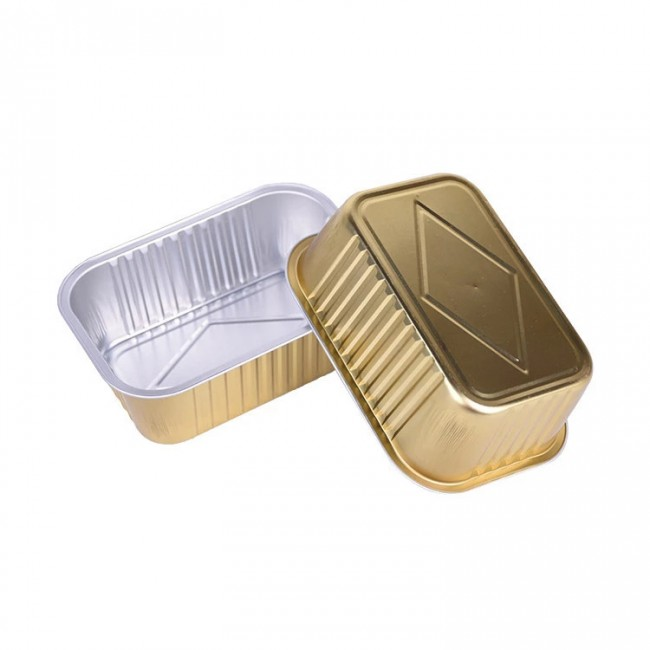 Big 700ml disposable aluminium foil container malaysia coated box for hot food container