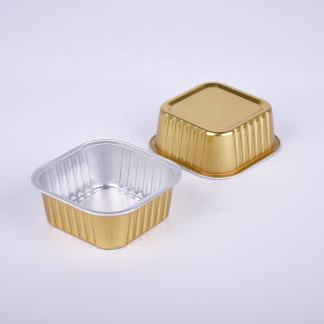 Heat Seal Aluminum Foil Pet Food Container Disposable Food Tray